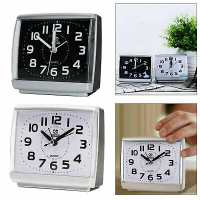 Easy To Read Alarm Clock Quartz Large Number Bedside Table Snooze Silent No Tick