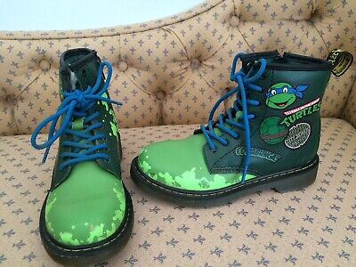 DR MARTENS TEENAGE MUTANT NINJA DM Childs Boots @ UK 1 US 2 EU 33 Boy Girl Shoes