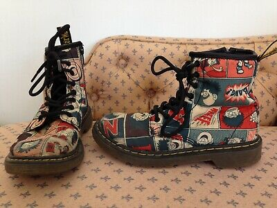 DR MARTENS DENNIS THE MENACE DM Childs Boots @ UK 13 US 1 EU 32 Boy Girl Shoes