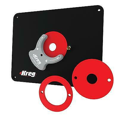 Kreg Precision Router Table Insert Plate – Predrilled for Triton