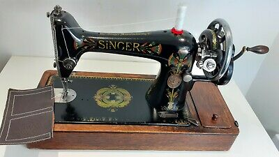 Semi-Industrial Singer 66K Handcrank Sewing Machine, NEWLY SERVICED,sews LEATHER