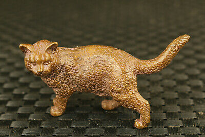 unique chinese old bronzr hand casting lovely cat statue figure
