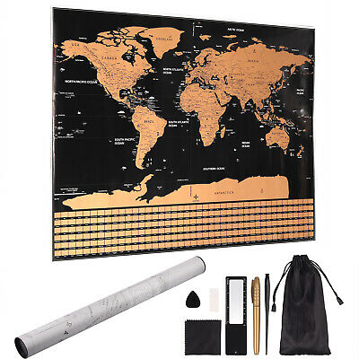 World Map Edition Travel Log Journal Poster Wall Decoration Large Premium Deluxe