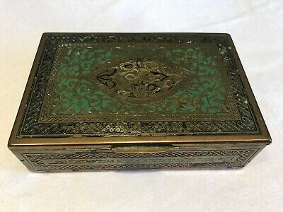 Antique / Vintage Brass Music Box With Swiss Movement