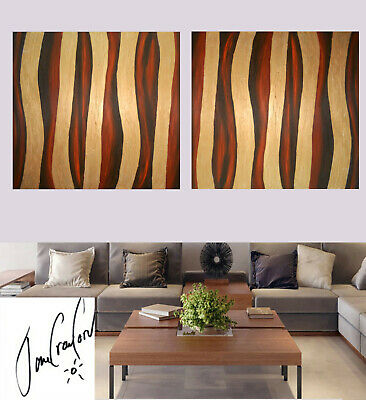 original Art oil Painting Australia abstract large gold by Jane modern 2x canvas
