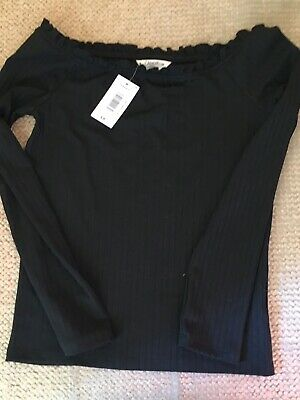 Candy Couture Girls Black Jumper/top Age 14 BNWT