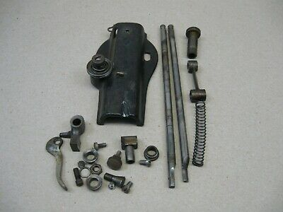 Antique 1883 Singer Fiddle Head Treadle Sewing Machine Front End Parts Rods &&