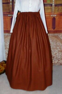 New Ladies Victorian Outlander Steampunk Skirt whitby Costume Brown  Fancy Dress