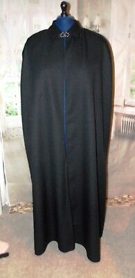 New Victorian Style Collared Single Cape Clergy Custom size fancy dress