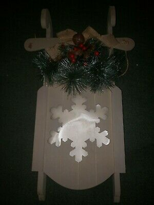 Holiday Decoration Christmas sleigh lighted Wall Decor Home winter snowflake