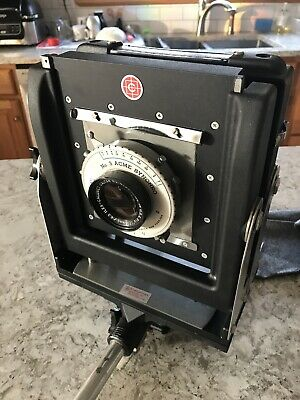 Calumet 4X5 View Camera with 215mm F6.3 Caltar and Case! 16 INCH RAIL
