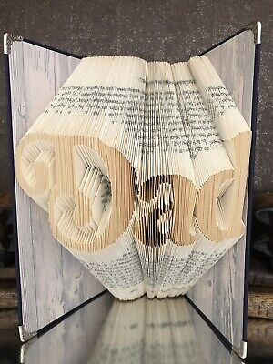 Dad in Large Letters BOOK FOLD FOLDING ART SCULPTURE folded Red