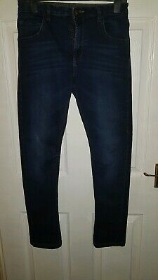 Dark Blue Straight Leg Skinny Jeans 12 13 Years Size 12-13 years age 12-13 years