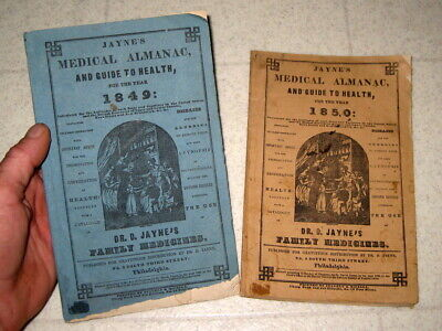1849 & 1850 Doctor Jaynes Quack Medicine Antique Advertising Book (S)  / Medical