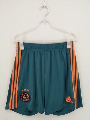 adidas Men's Ajax Amsterdam Away Shorts UK Size M Green Pre-owned