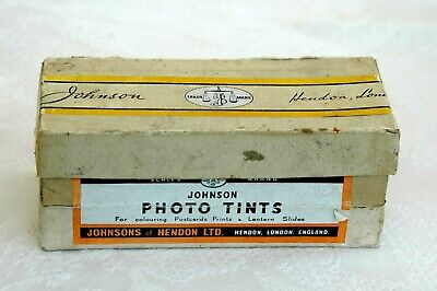 Vintage Johnson Photo Tints Collectable Box and Bottles
