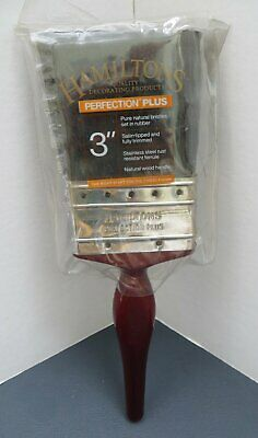 "Hamiltons 3"" Inch Perfection Plus Pure Natural Bristles Paint Brush New"