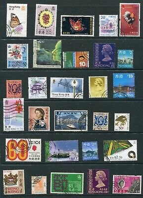 Hong Kong  Mixed Selection of Assorted Stamps - 1 page as shown  (CU184)