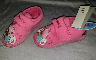 Bnwt Girls Pink Peppa Pig Slippers, Size Uk 12-13 Infant, By Tu