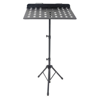 Adjustable Height Folding Music Orchestral Conductor Sheet Tripod Stand Black UK