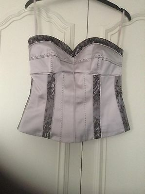 Bnwt Bustiere/Corset Coast Oyster & Black Lace Size 10
