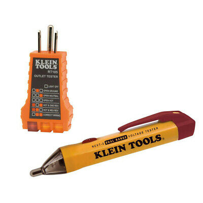 Klein Tools 12-1000 Digital Voltage Tester With Receptacle Tester