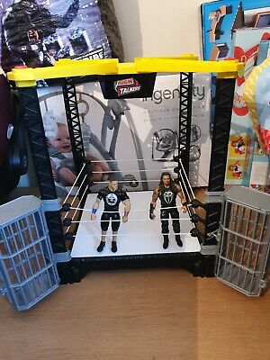 Wwe Tough Talkers Wrestling Ring And 2 Figures Vgc Hardly Played With
