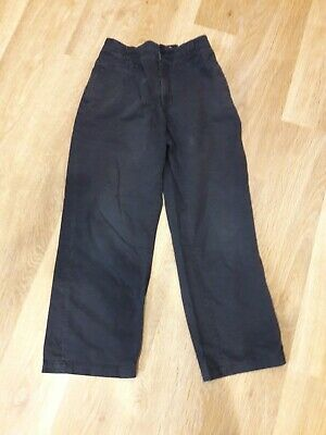 School Uniform M&S Indigo Chinos Boys 11yrs, 146cm classic fit elasticated waist