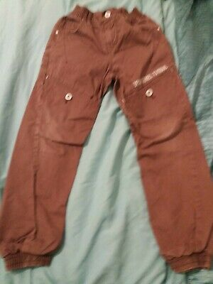 Matalan Brown Cuff Bottoms Trousers 9-10 Years