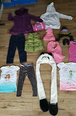 Bundle Of 13 Girls Clothes Jacket Gilet Top Legging Age 5-6 Years Gap Zara Next