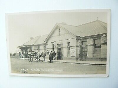 GNR Great Northern Railway Station Stevenage Kingsway Real Photo RP Postcard