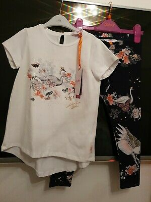 Girls Brand New With Tags Ted Baker Top And Leggings Set Age 6-7