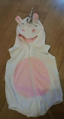 Girls Baby White Unicorn Costume All In One fancy Dress Up Age 2