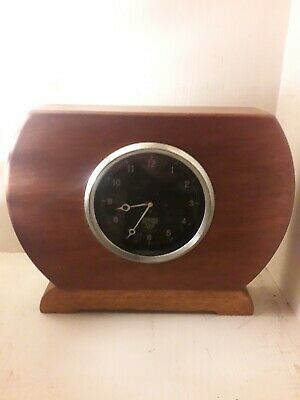 Vintage Rare Type N Smiths  Mantel Clock With Time Regulator And Hand Winder