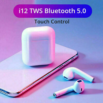 i12 TWS WIRELESS AIRPODS BLUETOOTH 5.0 EARPHONES TOUCH CONTROL EARBUDS