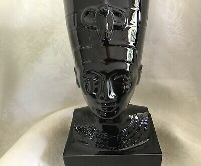 Egyptian Queen Nefertiti Bust Statue—Stunning—Very Black