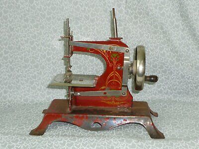 Antique Toy Sewing Machine, Miniature Sewing Machine, GERMANY 1930's Hand Crank