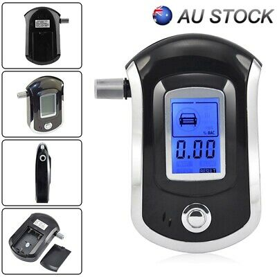 Professional LCD Digital Breath-Alcohol Tester Breathalyser Police Mouthpieces