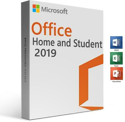 MS Microsoft Office 2019 Home and Student for Windows 32/64-Bit - Full version
