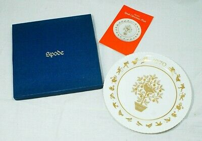 Spode 1970 Christmas plate, partridge in pear tree 12doc Thames hospice B 128A