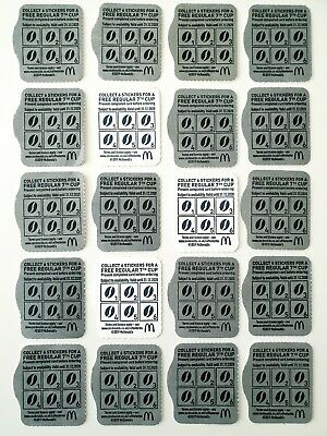 McDonald's Blank Coffee Hot Drink Cards Loyalty Vouchers x20 - EMPTY NO STICKERS