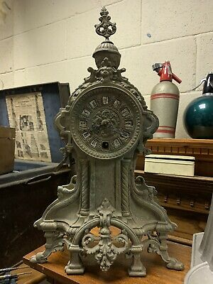 Antique French brass mantel clock