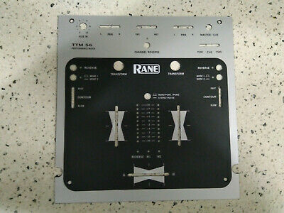 Rane TTM 56 Light Grey/Black Face Plate