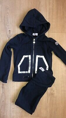 Girls Navy Moncler Tracksuit Age 6
