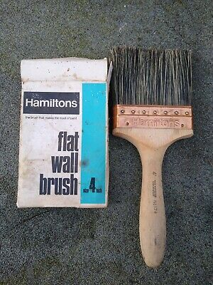 Vintage 4 inch Hamiltons Decorators Flat Wall Brush New in Packet No.174 unused
