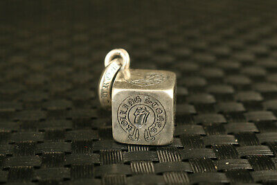 nice Chinese 925 silver hand carving dice Statue pendant noble gift key ring