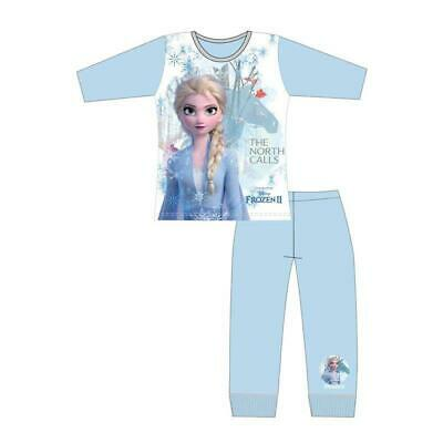 Girls Disney Frozen 2 Elsa Long Pyjamas Pjs The North Calls  Age 4-10 Year Cute