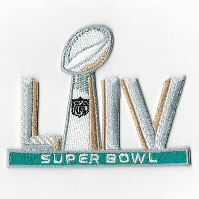 Super Bowl LIV 2020 B Iron on Patches Embroidered Patch American Football Sew FN