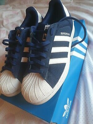 Mens adidas superstar trainers navy blue size 9