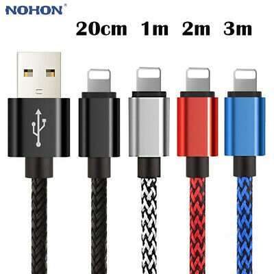Long Short Data USB Cable For iPhone 5 6 6s 7 8 X 11 Quick Charging Charger Lead